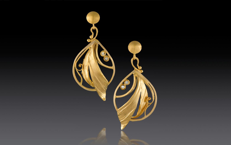 Earrings 18k & Diamonds – Jewelry Design At Rosario Garcia Designs